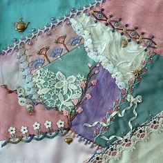 crazy quilting embellishments | posted in crazy quilting free crazy quilt mini lessons memory
