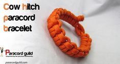 Cow hitch paracord bracelet tutorial.