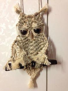 tenera dolcezza Macrame Owl, String Art, Bird, Knitting, Crafts, Animals, Craft Ideas, Owls, Craft