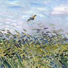 "Vincent van Gogh Detail of Wheat Field with a Lark 1887 Oil on canvas 1' 9"" x 2' 2"" In 1887, while Vincent van Gogh was residing in Paris, he executed an oil painting commonly known as Wheat Field..."