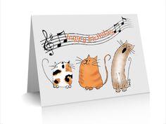 Birthday Card Catz Chorus by CAZB