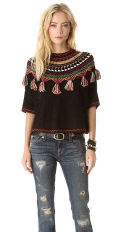 Carolina K Guate Fringe Sweater | SHOPBOP