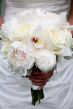 An Outdoor Pink Summer Wedding in Massachusetts - gorgeous bridal bouquet | photo by www.brettalison.com