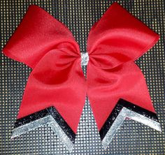 Black and Silver Sparkle Softball Bow by HairySituation on Etsy, $10.00