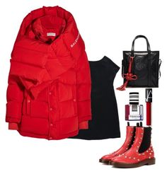 """""""BALENCIAGA in RED"""" by nurinur ❤ liked on Polyvore featuring Balenciaga"""