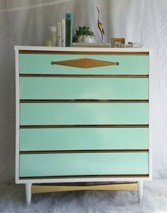 Tall Mid Century Modern Wardrobe Dresser In Off-white & Gold - Google Search