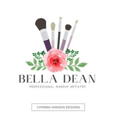 Premade Logo Design Makeup Artist Logo by ChynnaHansenDesigns