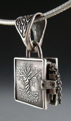 Book of Kells Locket: Tree of Life // wanaree at etsy