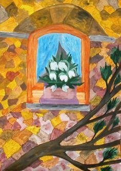 Tavasz az ablakban Painting, Art, Art Background, Painting Art, Kunst, Paintings, Performing Arts, Painted Canvas, Drawings
