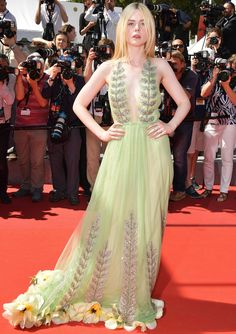 All the Celebrity Looks from the 2017 Cannes Film Festival Red Carpet - Elle Fanning from InStyle.com