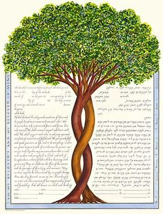 This one is ours!   Intertwining Trees Ketubah