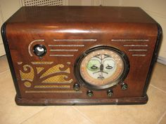 Climax Wood Tube Radio Beautiful Multicolor Dial 1930s Very RARE | eBay