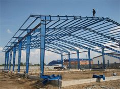 Profesional ligthweigt steel structure in reliable quality and competitive price can be supplied in our group. Steel Structure Buildings, Metal Structure, Pre Engineered Buildings, Roof Truss Design, Steel Sheds, Factory Architecture, Warehouse Design, Steel Frame Construction, Roof Trusses