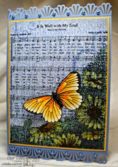 ODBDSLC203 - Sketch  Stamps - Our Daily Bread Designs It Is Well With My Soul, Butterfly Corner, ODBD Butterfly Die, ODBD Christian Faith Paper Collection