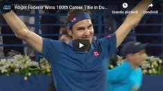 Roger Federer Wins Career Title in Dubai! Sports Highlights, Match Highlights, Atp Tennis, Roger Federer, Lleyton Hewitt, Top Goal, Soccer League, Amazon Fire Tv
