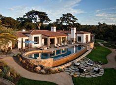 Traditional Hope Ranch Estate Hiding Modern Amenities in Santa Barbara, California, USA