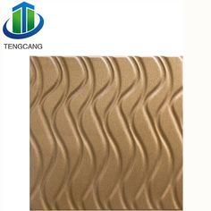 Strong visual effect wave series leather decorative panels for home decoration
