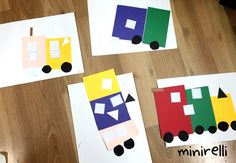 This was an a super simple one! We built our very own transportation using our imaginations!  You may need: Assorted construction paper White A4 construction paper Black construction paper Glue st…