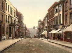 Surrey, Guildford, UK, High Street in the 1890's
