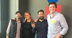 Días de Xponente y conmigo Pizu (izq), Gabriel Charles y Santiago Sv invitado. #Xponente #Color #Emprendimiento #Escucha #RadioImagen