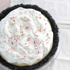 Peppermint and White Chocolate Cream Pie