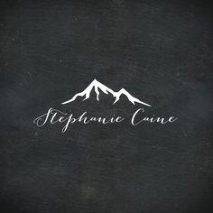 Premade Logo Design Handwritten Logo Mountain Logo by LogoFauna