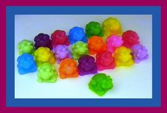 Soap - Mini Frogs - 20 Soaps -  Party Favors, Birthdays - You Choose Colors and Scent