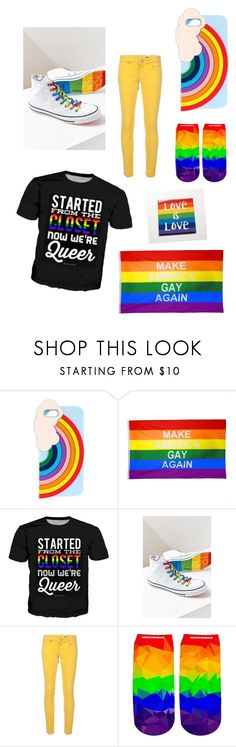 """""""Pride 2017 ❤️💛💚💙💜"""" by madipaige-32 ❤ liked on Polyvore featuring Miss Selfridge, Converse, M Missoni and pride"""