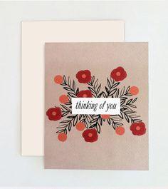 Thinking of You Card - www.oliveandjude.com