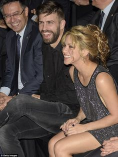 Loved-up! Shakira, 38, looked effortlessly chic as she attended the Festa De Esport Catala awards in Barcelona on Sunday as she snuggled up to husband Gerard Piqué, 28