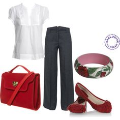 casual work - red  ** i have this outfit!  :)