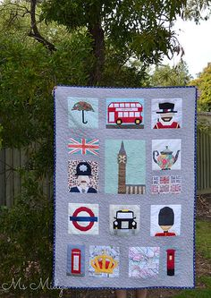 Great London themed quilt