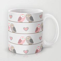Owls in ♥ Mug - FREE Shipping on studio VII's products thru November 17, 2013, worldwide!! PROMO LINK: http://society6.com/vivinicolin?promo=671bda