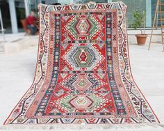 AREA OF PRODUCTION ANATOLIAN HAND MADE KAYSERI KILIM. The image colors may little differ from the actual item colors and colour may differ from screen to screen. MATERIALS : WOOL on WOOL. S u r p ri s e g i f t s a r e w a it i n g y o u. | eBay!