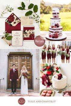 marsala nude wedding color inspiration ideas for rustic autumn weddings