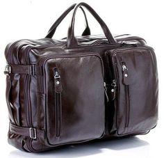 Fashion Multi-Function Full Grain Genuine Leather Travel Bag Men s Leather  Luggage Travel Bag Duffle Bag Large Tote Weekend Bag 1e91b55bba6e1