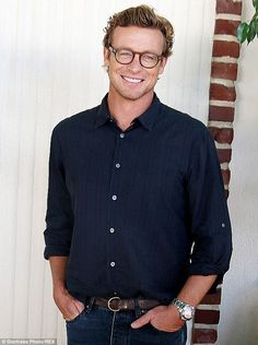 Final season: Simon Baker, shown last month at a press conference for The Mentalist in Los Angeles, has starred in the CBS crime drama for the past six seasons