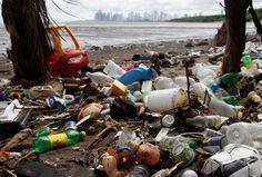 Plastic trash on a beach near Panama City, Panama, on September 10, 2013. The National Association f... - Carlos Jasso / REUTERS