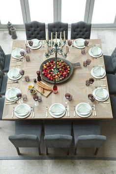 salle à manger moderne grande table à manger en bois