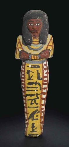 Shabti of Bakenmut; New Kingdom; Toledo Museum of Art 1906.37;  Christies 10/2016