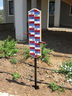 Backyard Scoreboard for bocce ball, hillbilly golf, cornhole, and more. 29.00, via Etsy.