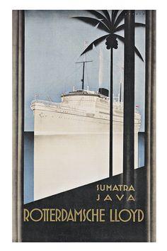 Sumatra Java Indonesia Travel Poster Travel by ArtDecoGallery