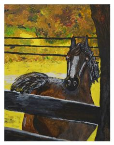 This item is unavailable Modern Art Paintings, Original Paintings, Canvas Frame, Canvas Art, Farmhouse Paintings, Kitchen Artwork, Brown Horse, Acrylic Painting Canvas, Nursery Decor