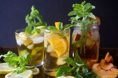Herb-infused sweet tea cocktails perfect for a Southern-inspired Sunday brunch