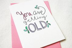 Hand drawn birthday card for mum sister friend  you by joolisCARDS, £2.50