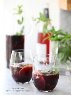 Roasted Cherry Sangria   foodiecrush.com