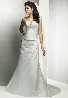 Fit-To-Flare Sweetheart Draped Satin Wedding Dress Bridal Dress Shops, Satin, Prom Dresses, Formal Dresses, Bridal Outfits, Dress For You, One Shoulder Wedding Dress, Wedding Gowns, Lyon