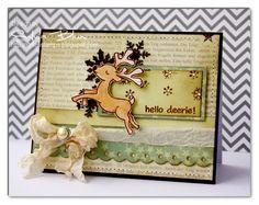 Weihnachtskarte mit Rentier (Sylvias Stamping Place)