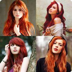 beautiful red hair styles for young people / schöne rote Haarstylen für junge Frauen