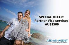 Only AU$1500 for Partner Visa Australia services. Contact Migration Agent Association: www.ask-an-agent.com.au
